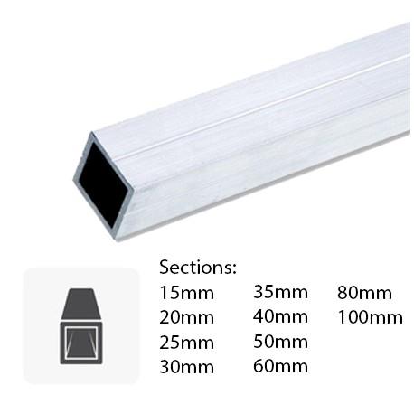 Barre de tube carré en aluminium sur mesure