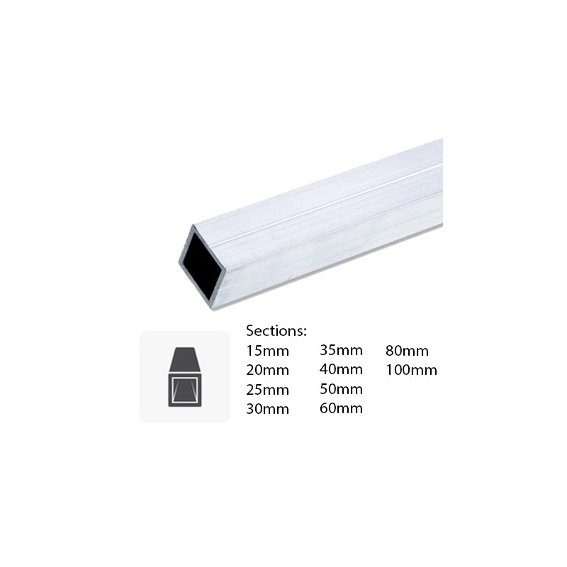 barre de tube carr en aluminium sur mesure. Black Bedroom Furniture Sets. Home Design Ideas