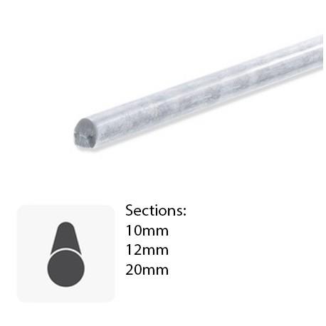 Barre ronde laminée en inox brut sur-mesure