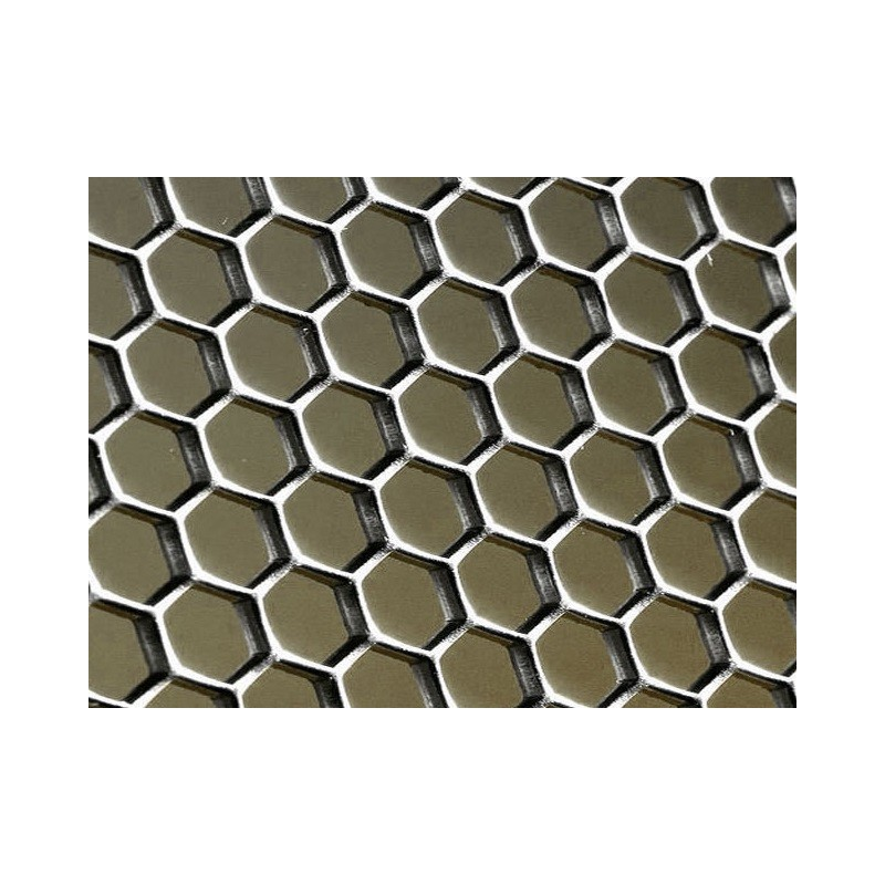 Plaque de m tal perfor type nid d 39 abeille petit format for Carrelage nid d abeille