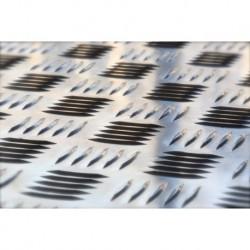 Tôle larmée en aluminium par quintet de différentes épaisseurs