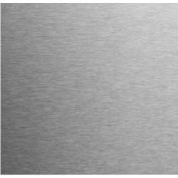Tôle en inox brossé sur mesure (avec film de protection)