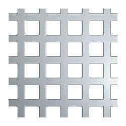 Tôle galva perforée carré de 10mm sur-mesure