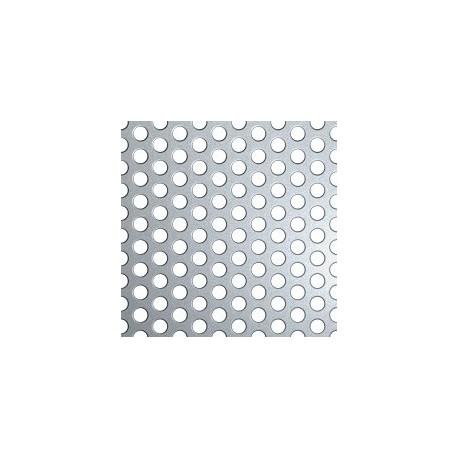 Tôle perforée métallique en acier brut, trou diamètre 5mm