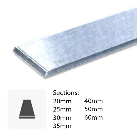 Barre de Fer plat galvanisé sur mesure
