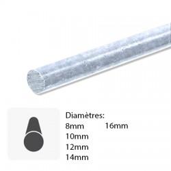 Barre de fer rond galvanisé sur mesure