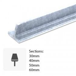 Barre de fer galvanisé profilé T laminée