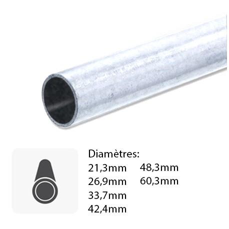 Barre de Tube Rond  serrurier en acier galvanisé sur mesure