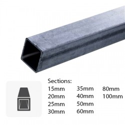 Barre de tube carré en fer sur mesure