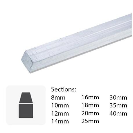Barre Carré en aluminium sur mesure