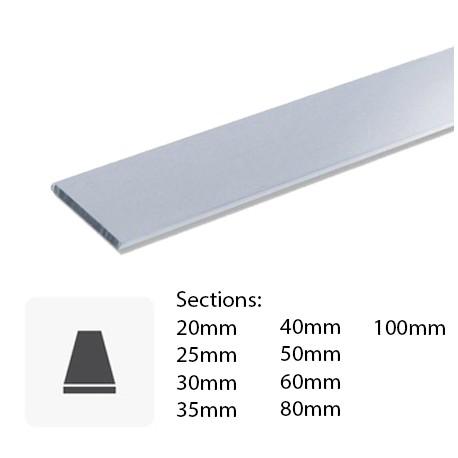 Barre Plate En Aluminium Coupée Sur Mesure