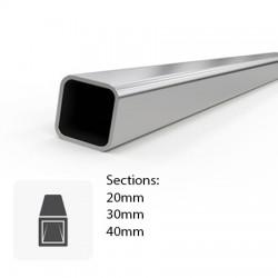 Tube carré en Inox brossé coupé sur-mesure