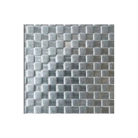 Plaque en inox sur-mesure motifs carrés