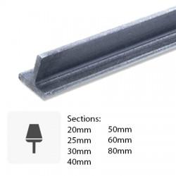 Profil T en métal coupé sur mesure