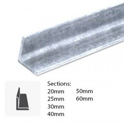 Barre de fer galvanisé type profilé L cornière laminée