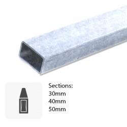 Barre de tube Rectangulaire sur mesure en métal galvanisé