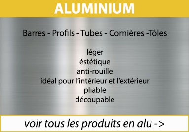 tous les produits en aluminium